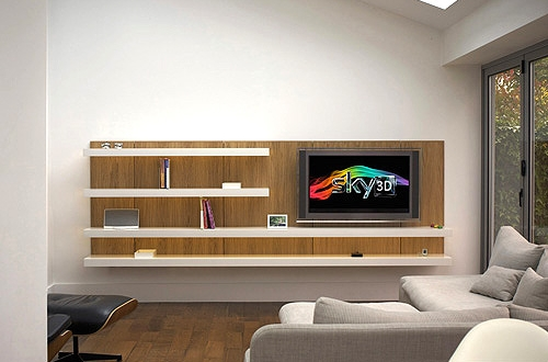 Shelving system with plasma tv 500 x 333