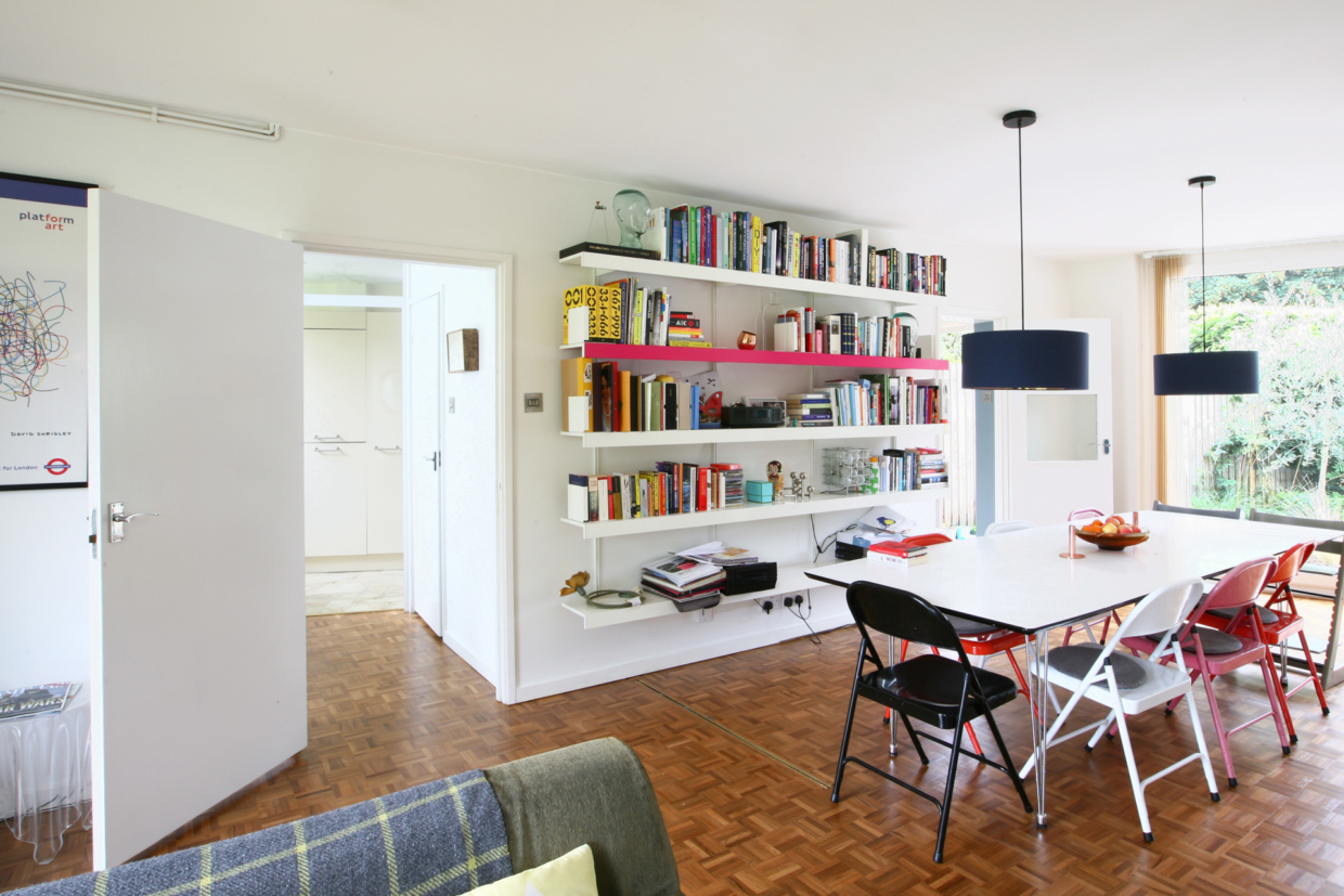 Templemere Span house interior with ON&ON floor to ceiling shelving
