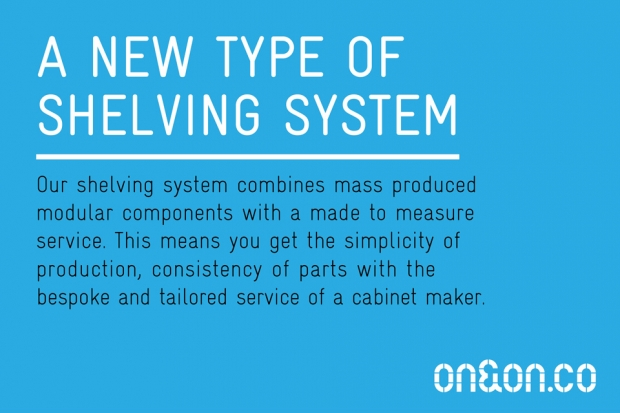 ON&ON wall shelving systems