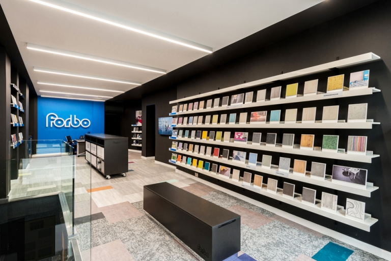 forbo, showroom, shelving systems, display shelving, ON&ON, design
