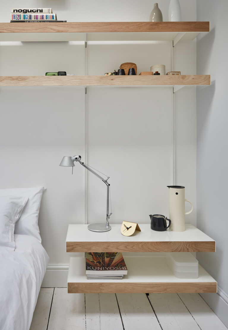 Modular shelving with solid oak fronts