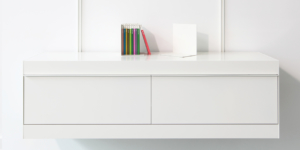 on and on shelving system white cabinets with draws