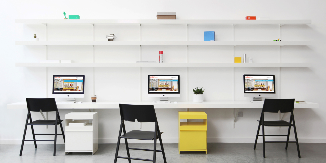 ON&ON wall desk with shelves