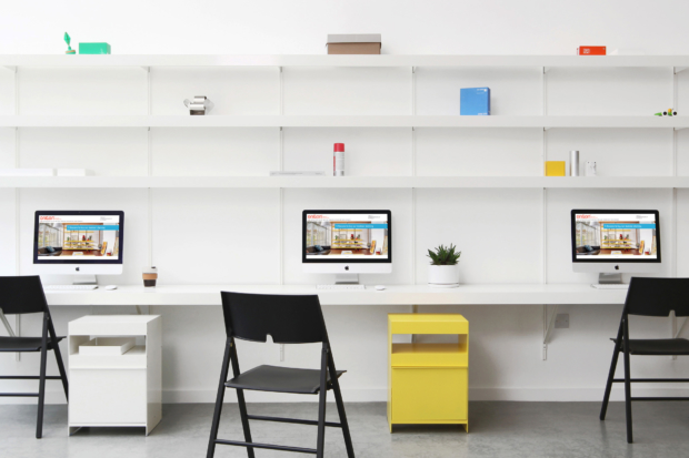 ON&ON large wall desk with shelves