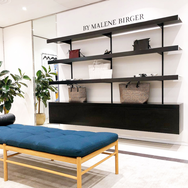 bymalenebirger retail popup on and on shelving systems