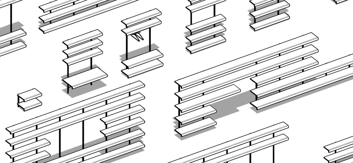 on and on shelving system sketchup models