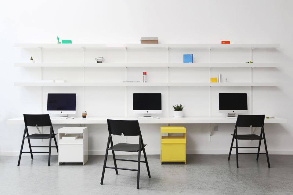 Large made to measure floating wall desk