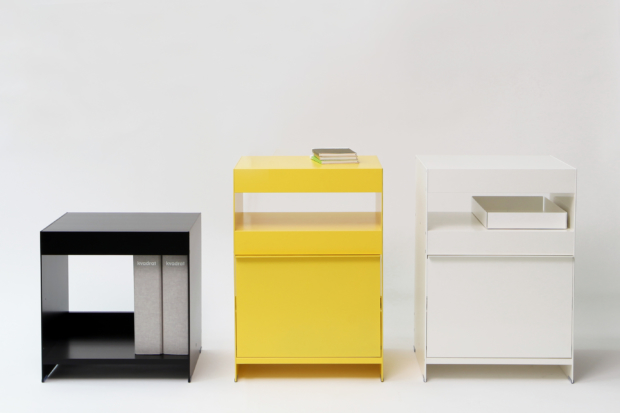 ON&ON modern aluminium side tables