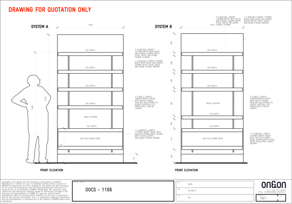 ON&ON alcove shelving