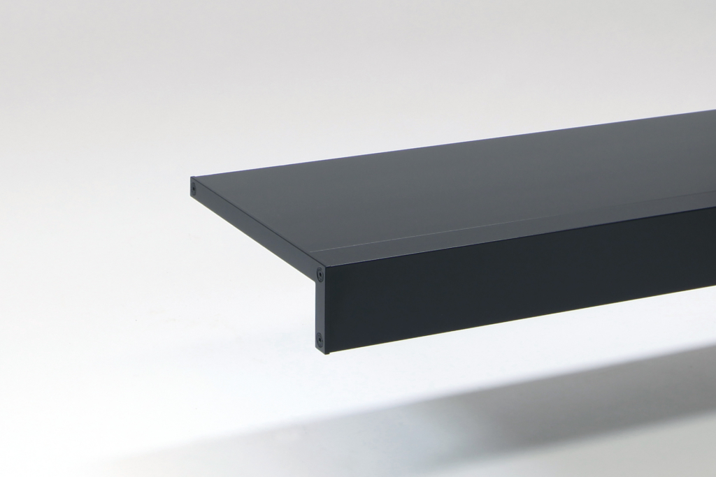 long black aluminium wall shelves