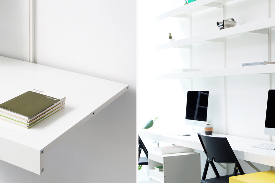 Shelving system for design offices